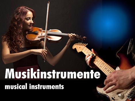 Musikinstrumente_Bild ©ellisia/Fotolia.com - ©gordo25/Fotolia.com